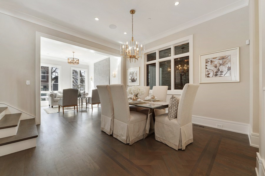 Real Estate Photography - 1823 N Bissell, Chicago, IL, 60614 - Living Room / Dining Room