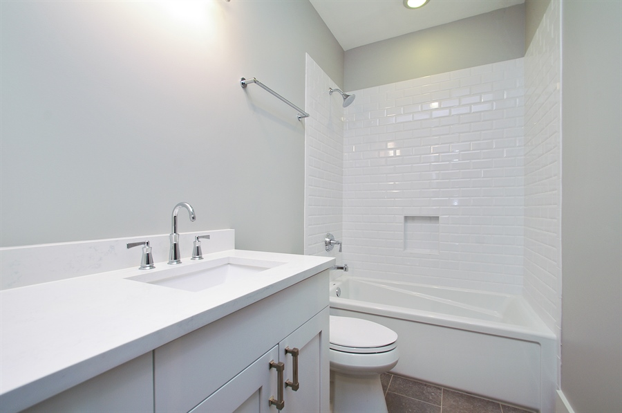 Real Estate Photography - 2024 W Melrose, Chicago, IL, 60618 - 3rd Bathroom