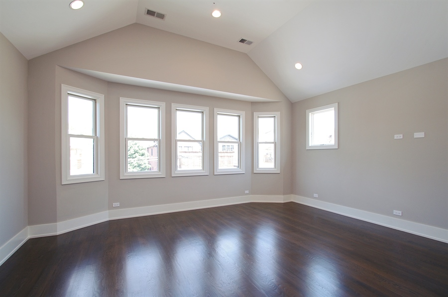 Real Estate Photography - 2024 W Melrose, Chicago, IL, 60618 - Master Bedroom