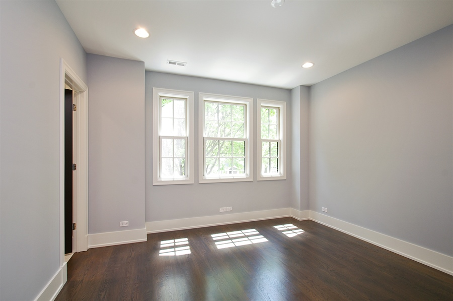 Real Estate Photography - 2024 W Melrose, Chicago, IL, 60618 - 2nd Bedroom