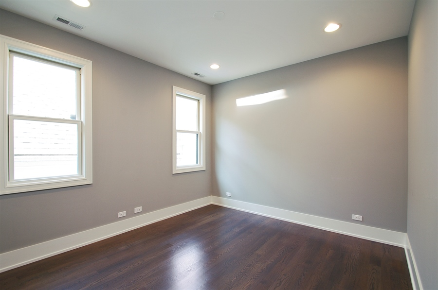 Real Estate Photography - 2024 W Melrose, Chicago, IL, 60618 - 3rd Bedroom