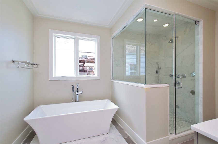 Real Estate Photography - 2024 W Melrose, Chicago, IL, 60618 - Master Bathroom