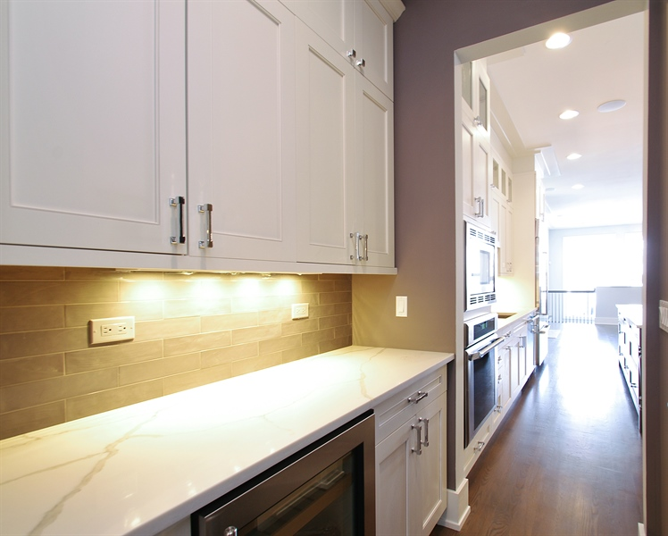 Real Estate Photography - 2024 W Melrose, Chicago, IL, 60618 - Butler's pantry