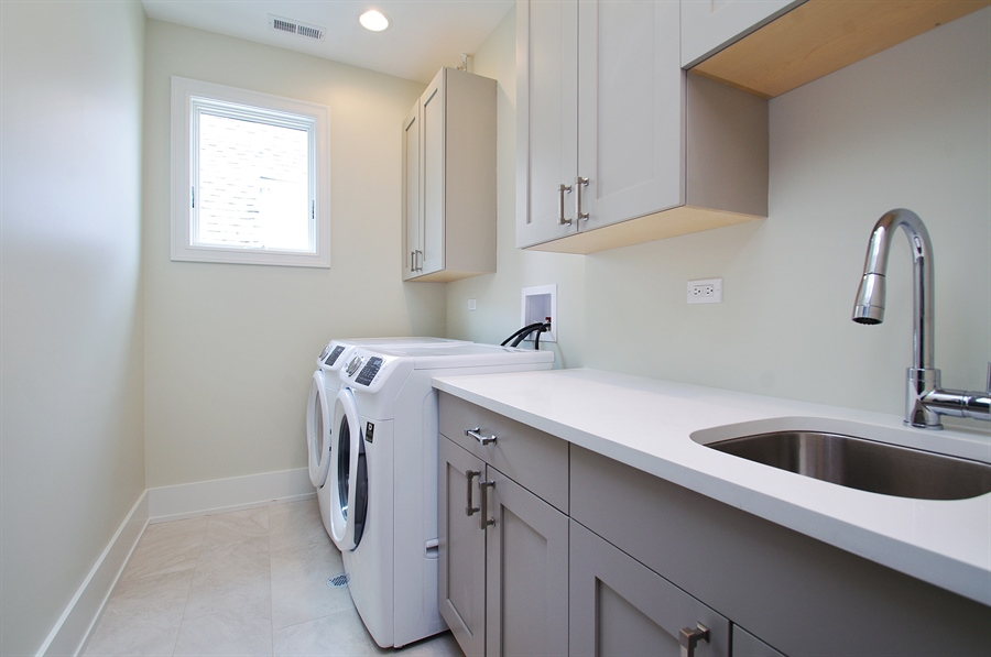 Real Estate Photography - 2024 W Melrose, Chicago, IL, 60618 - Laundry Room