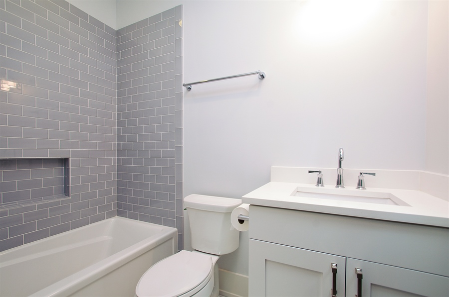 Real Estate Photography - 2024 W Melrose, Chicago, IL, 60618 - 2nd Bathroom