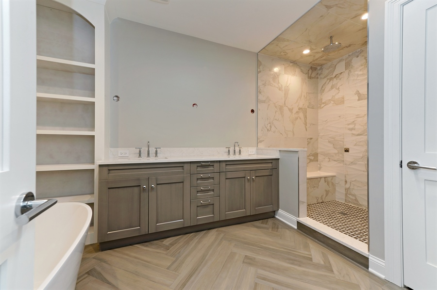 Real Estate Photography - 2230-2242 W Wolfram, Chicago, IL, 60618 - Master Bathroom