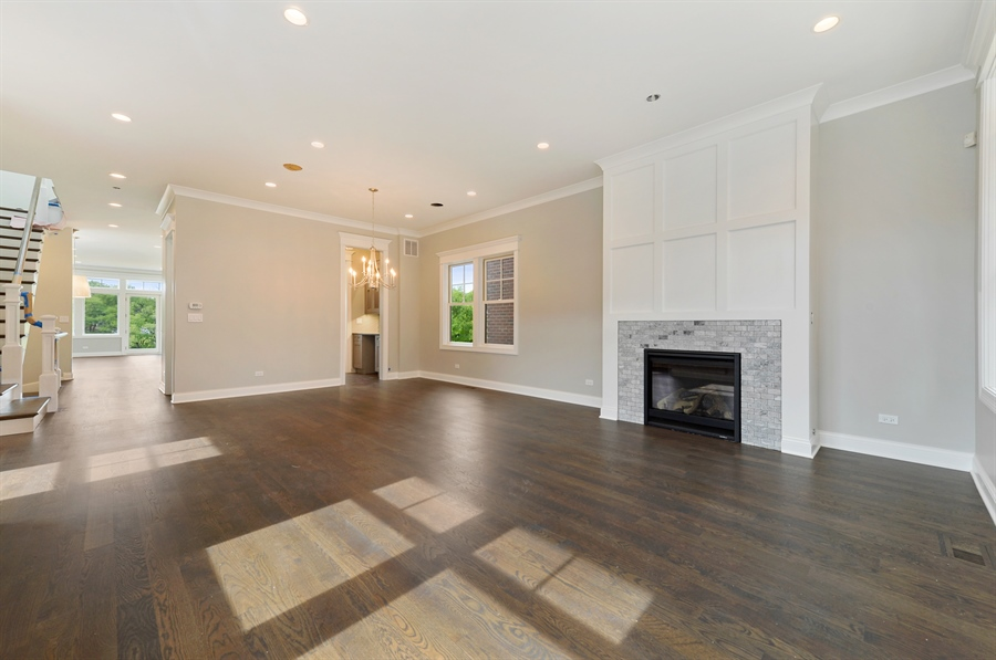 Real Estate Photography - 2230-2242 W Wolfram, Chicago, IL, 60618 - Living Room / Dining Room
