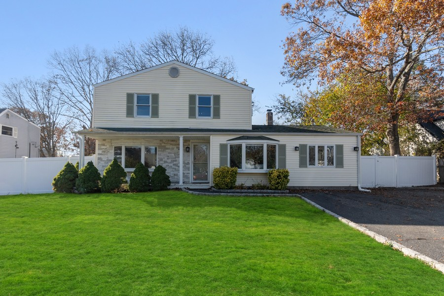 Real Estate Photography - 8 Belair Road, Selden, NY, 11784 - Front Landscaping & Driveway