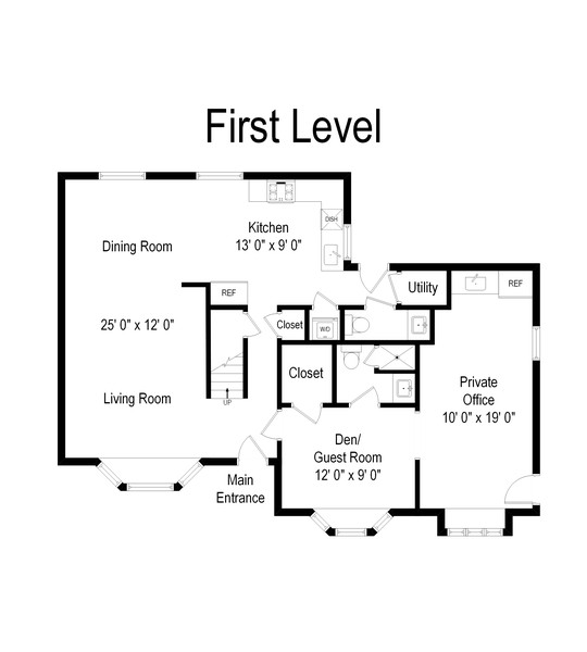Real Estate Photography - 8 Belair Road, Selden, NY, 11784 - First Level Floor Plan