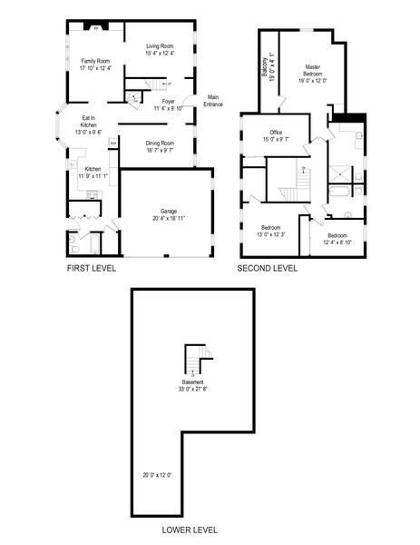 Real Estate Photography - 62 Southdown Rd, Huntington, NY, 11743 - Floor Plan