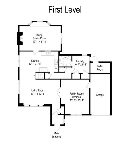 Real Estate Photography - 1423 Sturl Ave, Hewlett, NY, 11557 - Floor Plan