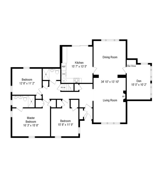 Real Estate Photography - 257 Waverly Ave, East Rockaway, NY, 11518 - Floor Plan