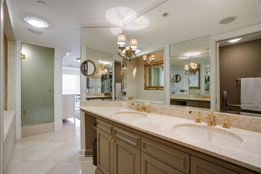 Real Estate Photography - 161 E Chicago Ave, Unit 52F, Chicago, IL, 60611 - Master Bathroom