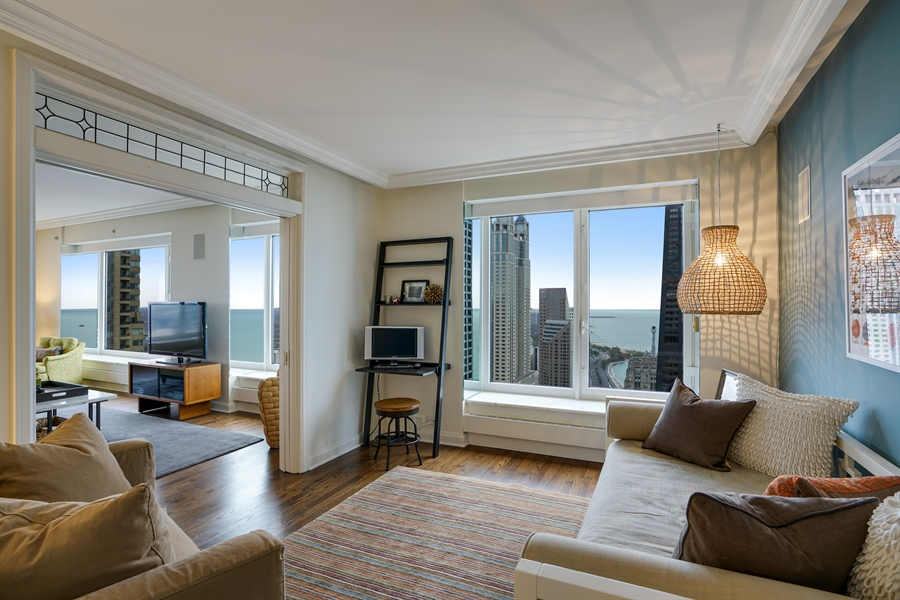 Real Estate Photography - 161 E Chicago Ave, Unit 52F, Chicago, IL, 60611 - 2nd Bedroom