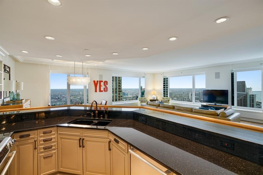 Real Estate Photography - 161 E Chicago Ave, Unit 52F, Chicago, IL, 60611 - Kitchen