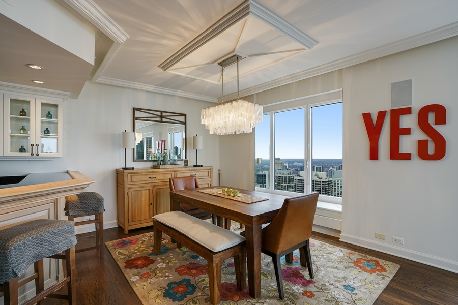 Real Estate Photography - 161 E Chicago Ave, Unit 52F, Chicago, IL, 60611 - Dining Room