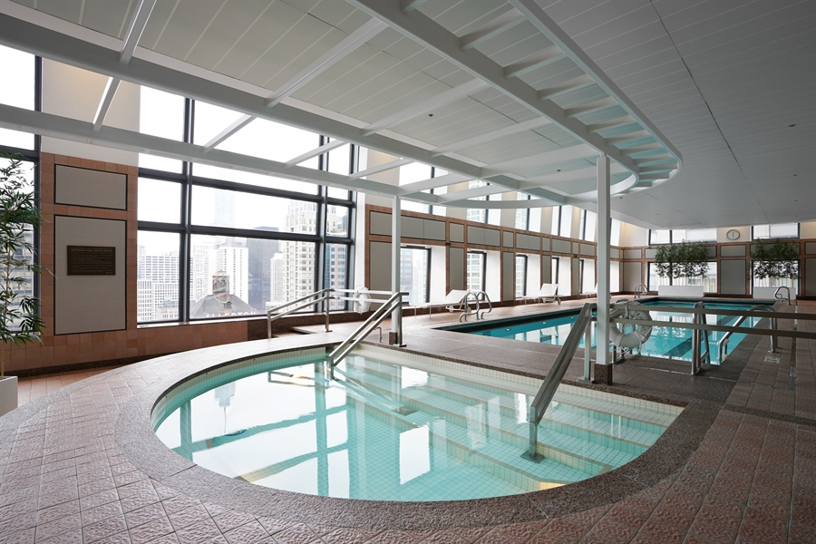 Real Estate Photography - 161 E Chicago Ave, Unit 52F, Chicago, IL, 60611 - Pool