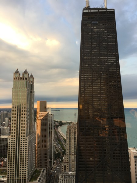 Real Estate Photography - 161 E Chicago Ave, Unit 52F, Chicago, IL, 60611 - North View Clouds