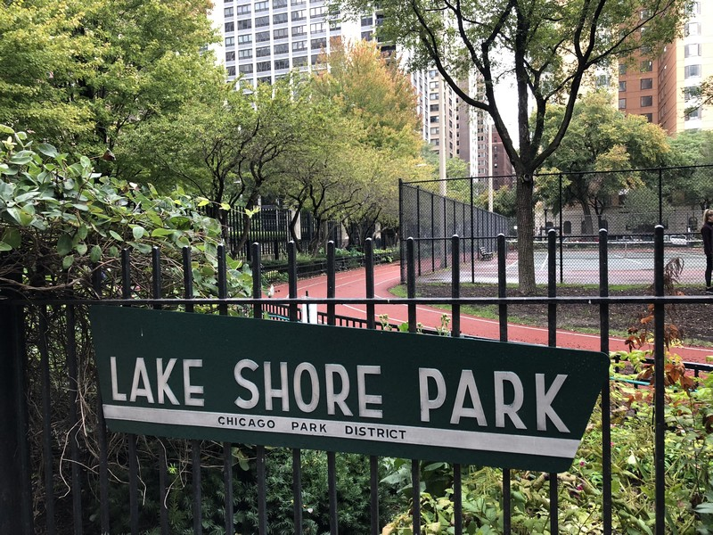 Real Estate Photography - 161 E Chicago Ave, Unit 52F, Chicago, IL, 60611 - Lake Shore Park tennis courts and running track