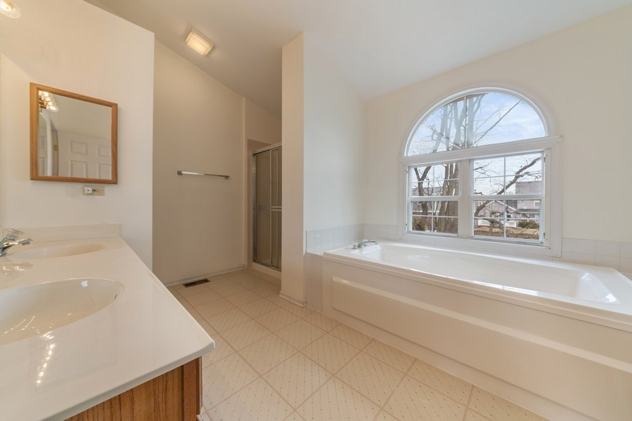 Real Estate Photography - 175 Meadowview Ln., Aurora, IL, 60502 - Master Bathroom