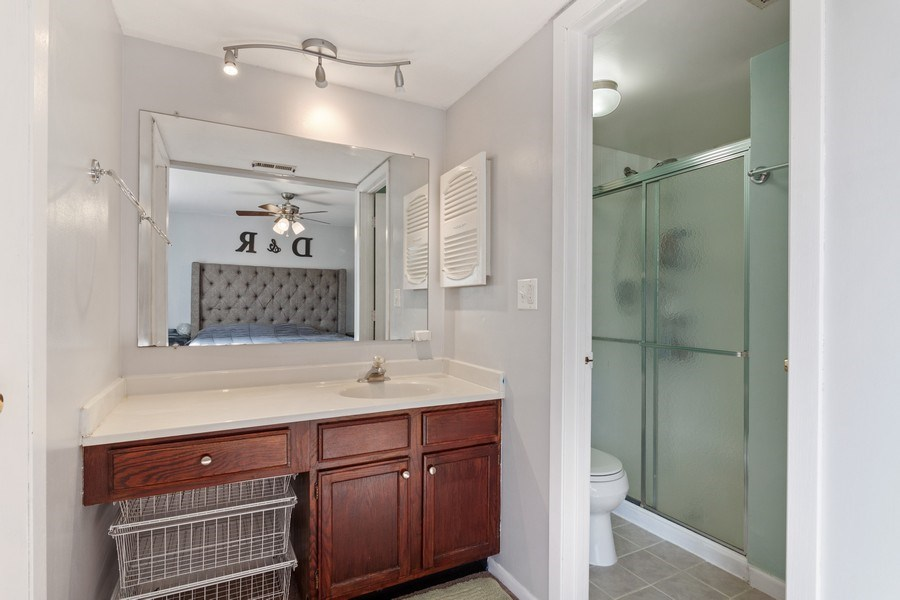 Real Estate Photography - 2212 Wharf Dr Apt 2107, Woodridge, IL, 60517 - Master Bathroom