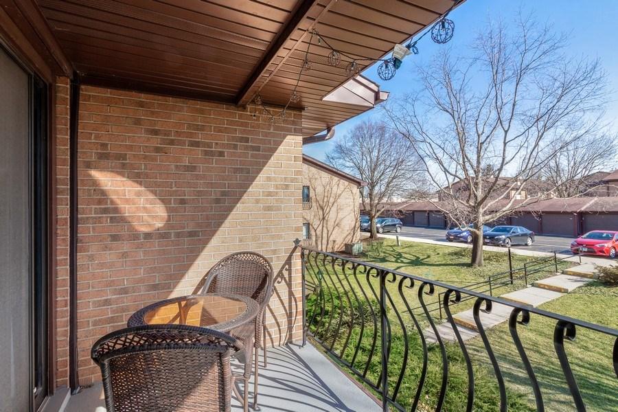 Real Estate Photography - 2212 Wharf Dr Apt 2107, Woodridge, IL, 60517 - Balcony