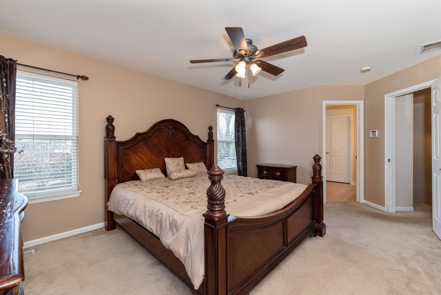 Real Estate Photography - 141 Hearthstone Dr, Bartlett, IL, 60103 - Master Bedroom