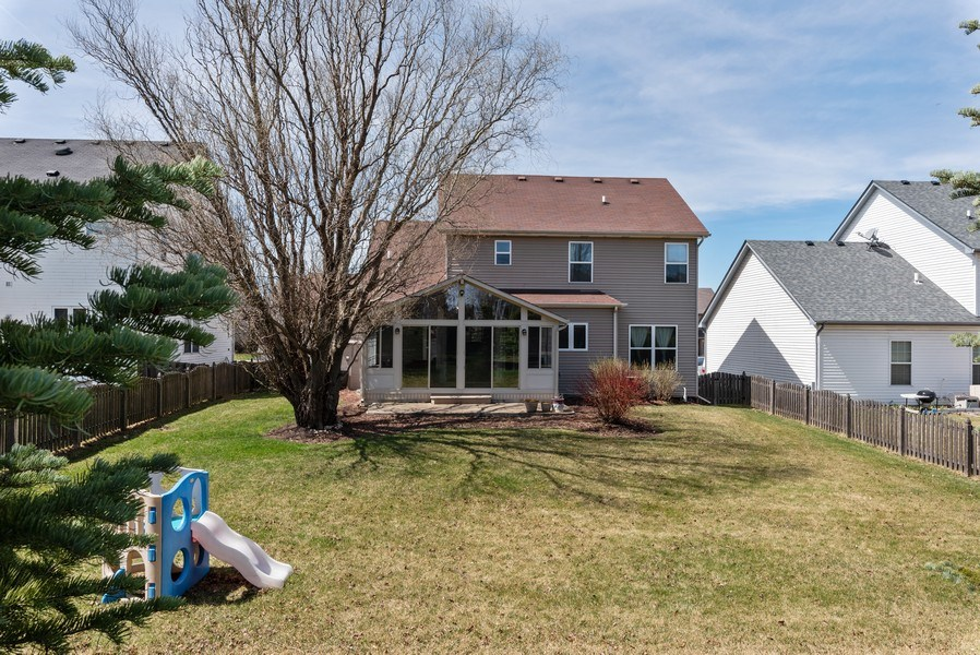 Real Estate Photography - 141 Hearthstone Dr, Bartlett, IL, 60103 - Rear View