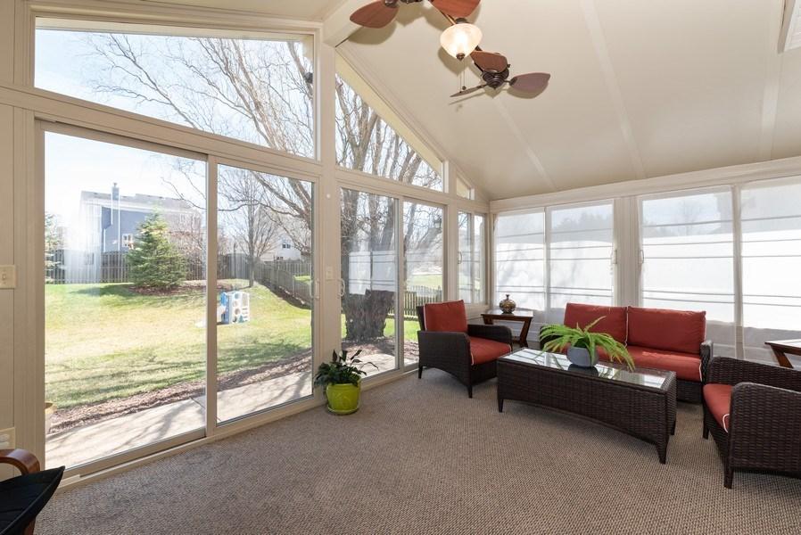 Real Estate Photography - 141 Hearthstone Dr, Bartlett, IL, 60103 - Sunroom