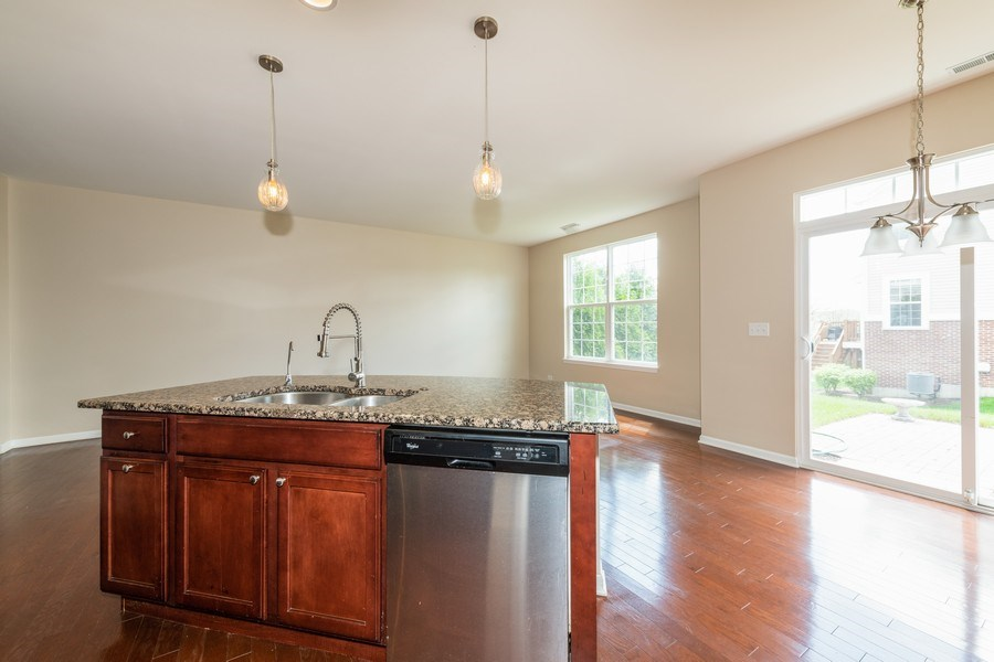 Real Estate Photography - 1271 Church Court, Aurora, IL, 60502 - Kitchen / Living Room