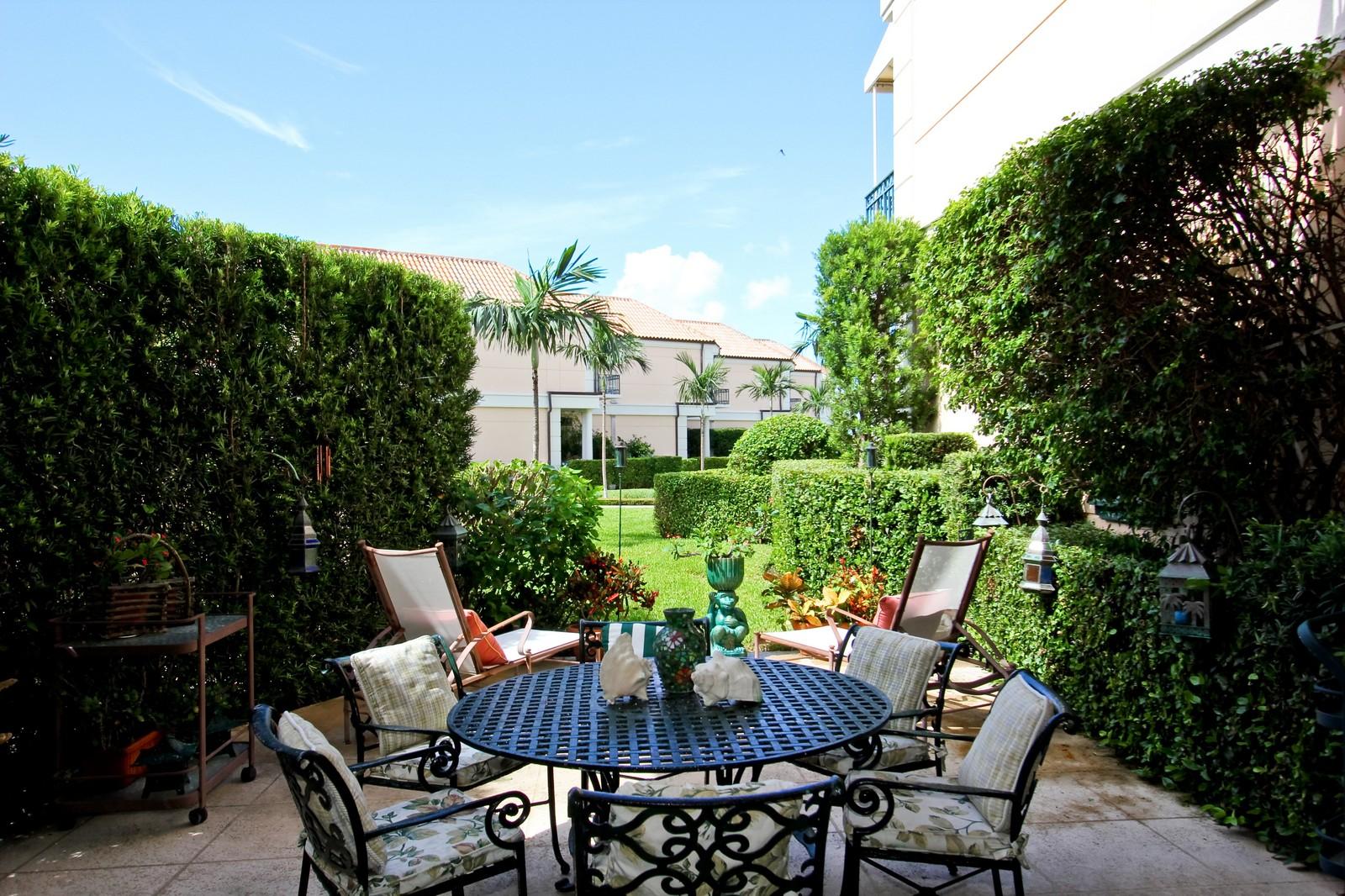 Real Estate Photography - 300 Atlantic Ave, Palm Beach, FL, 33480 - Patio