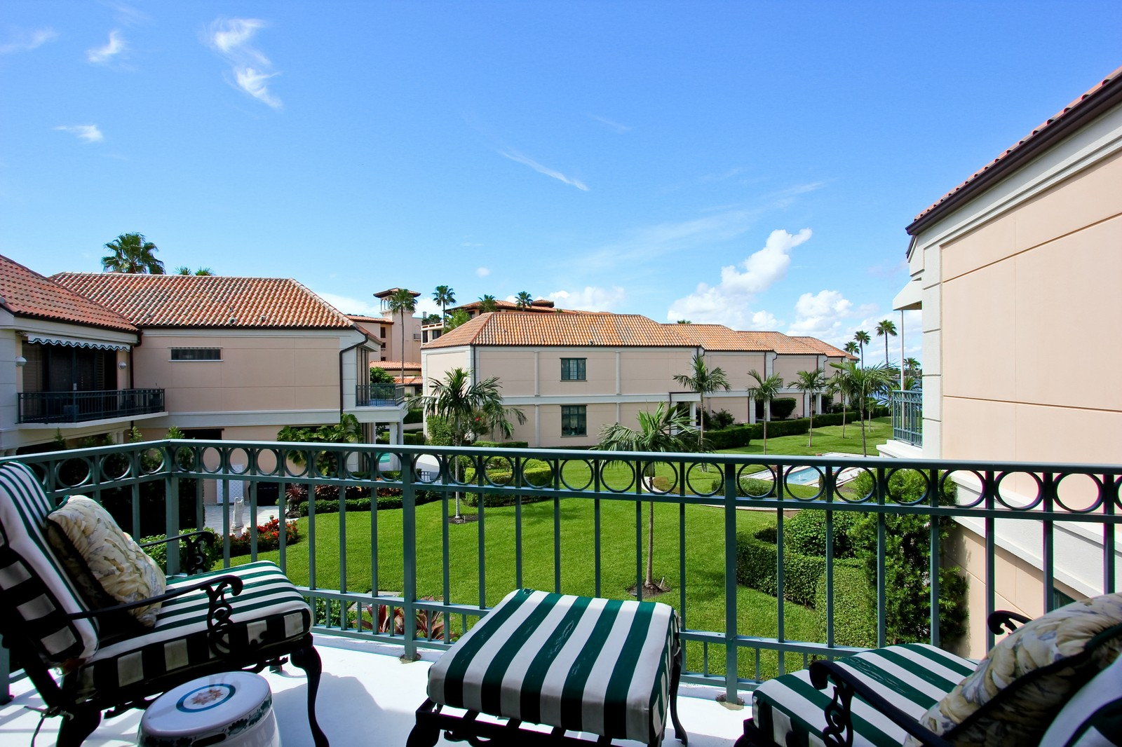 Real Estate Photography - 300 Atlantic Ave, Palm Beach, FL, 33480 - Balcony