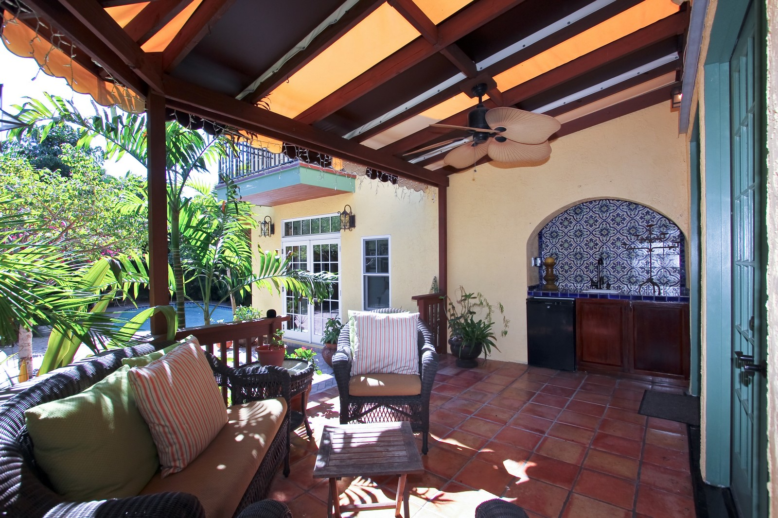 Real Estate Photography - 806 Flamingo Drive, West Palm Beach, FL, 33401 - Loggia