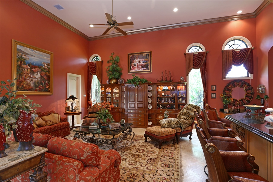 Real Estate Photography - 7730 Woodsmiur Dr, West Palm Beach, FL, 33412 - Family Room