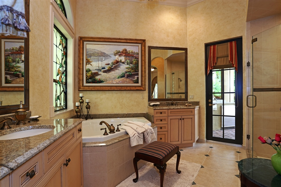 Real Estate Photography - 7730 Woodsmiur Dr, West Palm Beach, FL, 33412 - Guest House Bathroom
