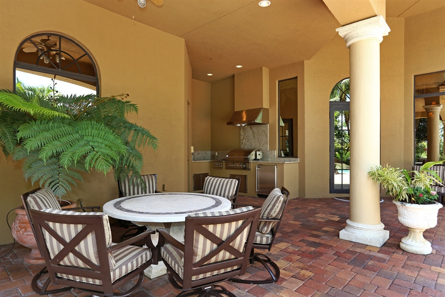 Real Estate Photography - 7730 Woodsmiur Dr, West Palm Beach, FL, 33412 - Loggia