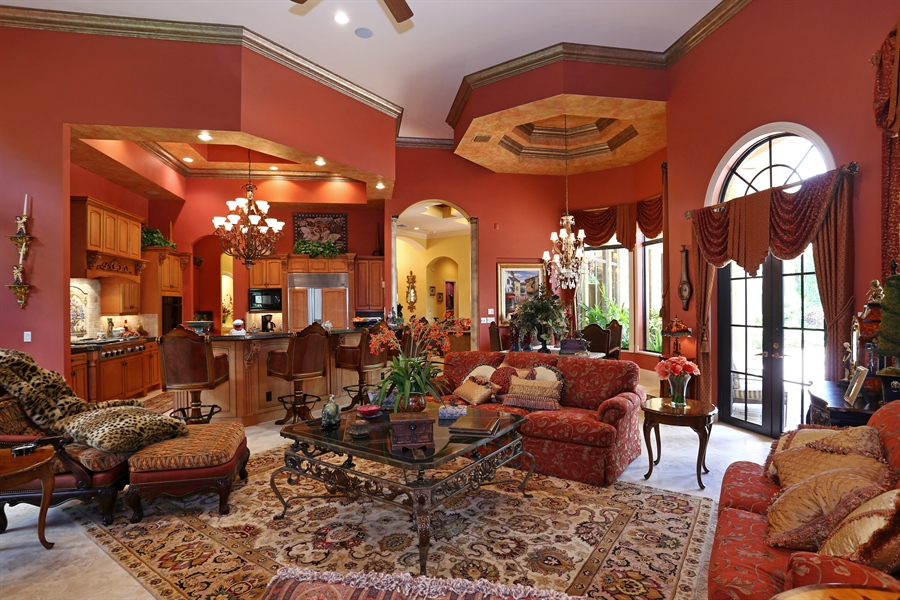 Real Estate Photography - 7730 Woodsmiur Dr, West Palm Beach, FL, 33412 - Family Room / Kitchen