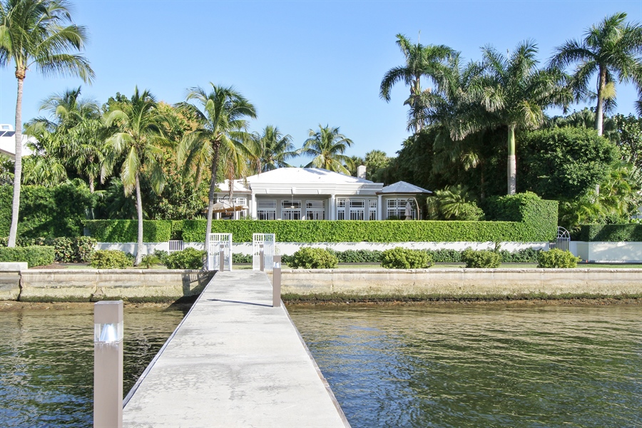 Real Estate Photography - 377 N Lake Way, Palm Beach, FL, 33480 - Dock