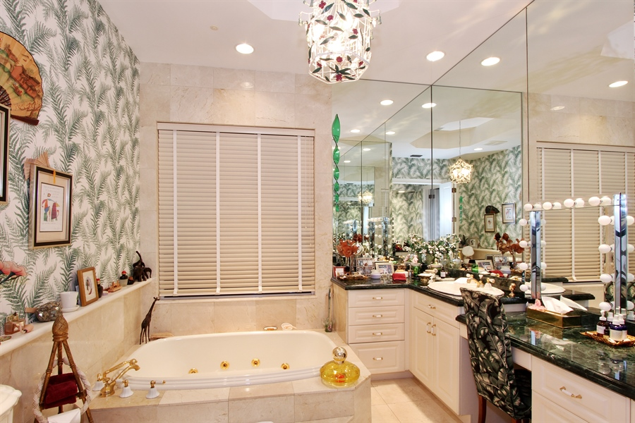 Real Estate Photography - 377 N Lake Way, Palm Beach, FL, 33480 - Master Bathroom
