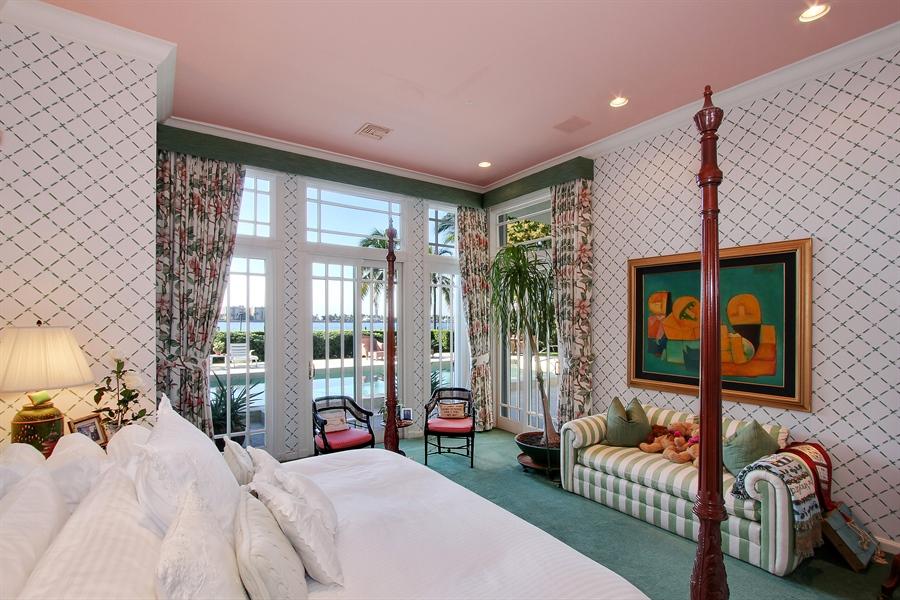 Real Estate Photography - 377 N Lake Way, Palm Beach, FL, 33480 - Master Bedroom