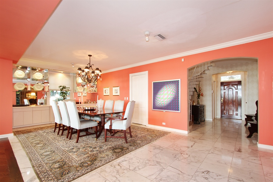 Real Estate Photography - 377 N Lake Way, Palm Beach, FL, 33480 - Dining Room