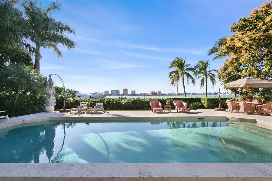 Real Estate Photography - 377 N Lake Way, Palm Beach, FL, 33480 - Pool