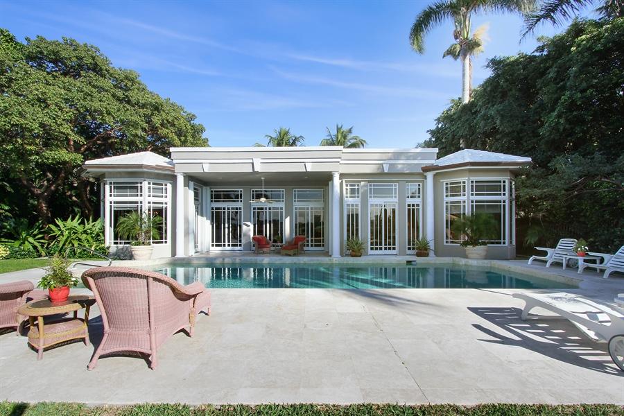 Real Estate Photography - 377 N Lake Way, Palm Beach, FL, 33480 - Rear View