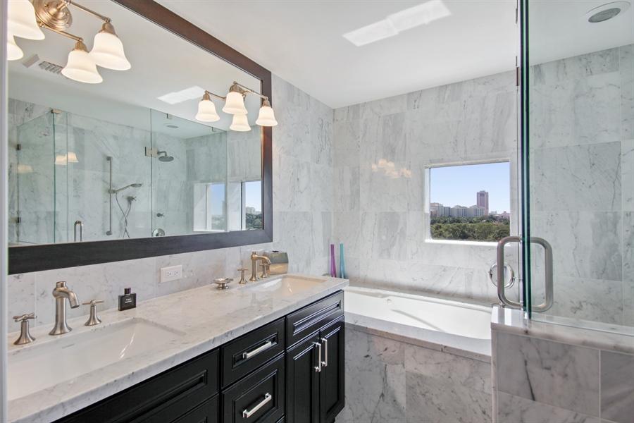 Real Estate Photography - 455 E Palmetto Park Rd, Unit 7W, Boca Raton, FL, 33432 - Master Bathroom