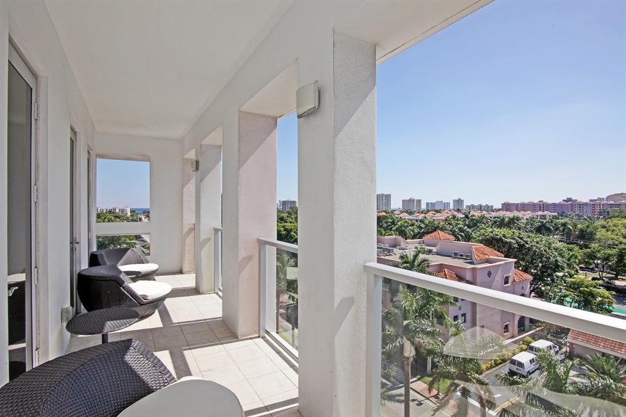 Real Estate Photography - 455 E Palmetto Park Rd, Unit 7W, Boca Raton, FL, 33432 - Balcony