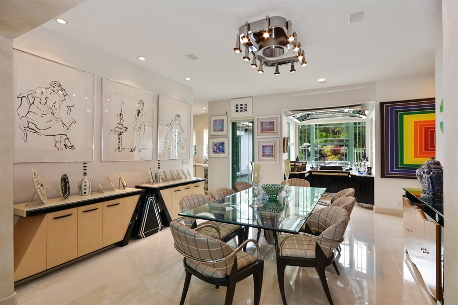 Real Estate Photography - 450 SW 17th St, Boca Raton, FL, 33432 - Dining Room