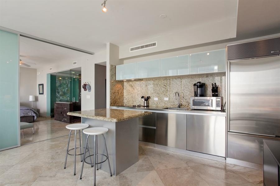 Real Estate Photography - 1040 Biscayne Blvd, 1605, Miami, FL, 33132 - Kitchen