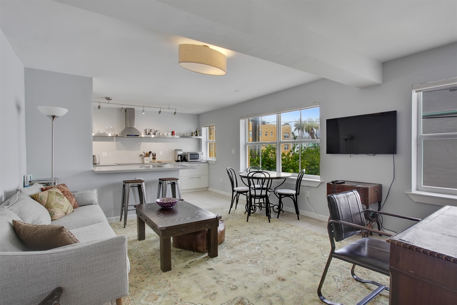 Real Estate Photography - 1308 Drexel Ave, 209, Miami Beach, FL, 33139 - Living Room