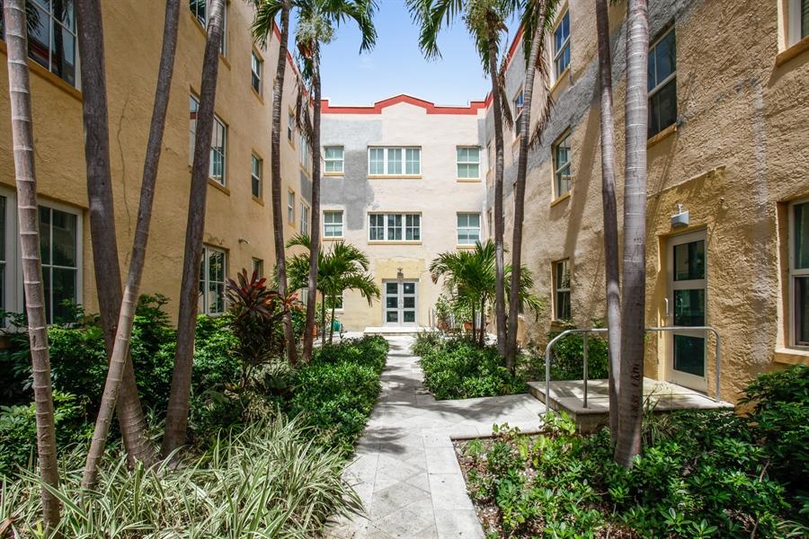 Real Estate Photography - 1308 Drexel Ave, 209, Miami Beach, FL, 33139 - Courtyard