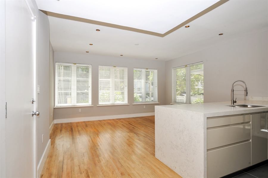 Real Estate Photography - 1018 Meridian Ave, #1, Miami Beach, FL, 33139 - Living & Dining Area with Open Kitchen